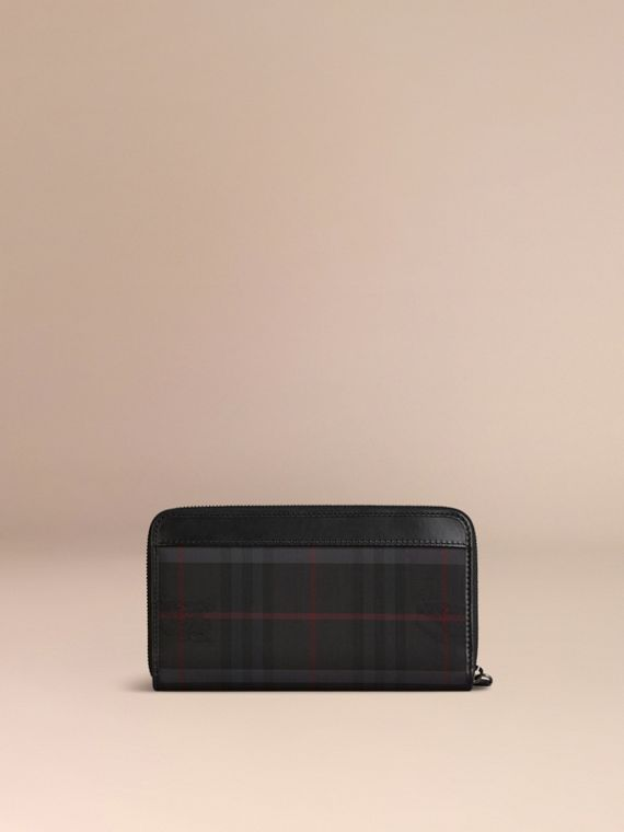 Charcoal/black Horseferry Check Ziparound Wallet Charcoal/black - cell image 2