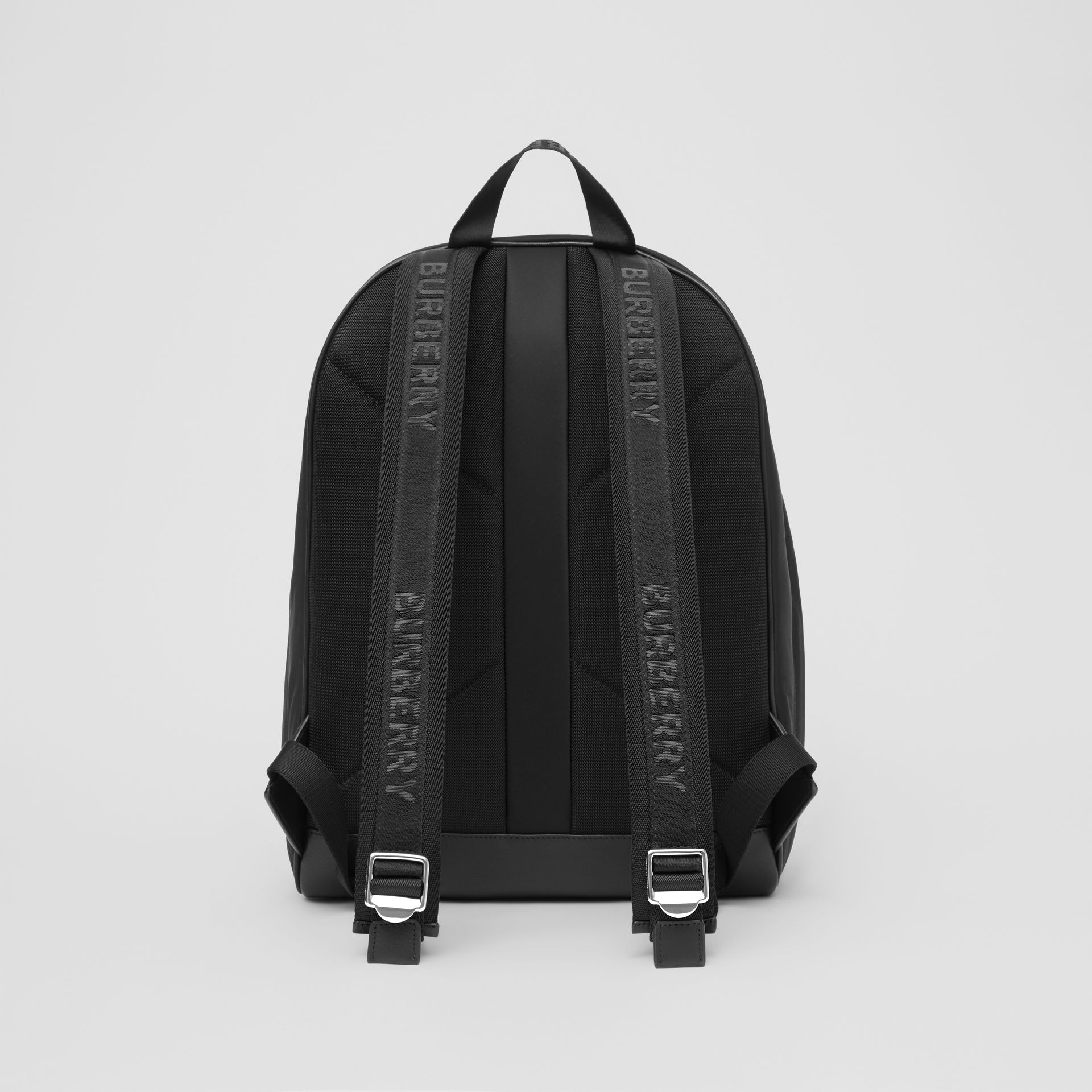 Logo Print ECONYL® Backpack in Black | Burberry - gallery image 9