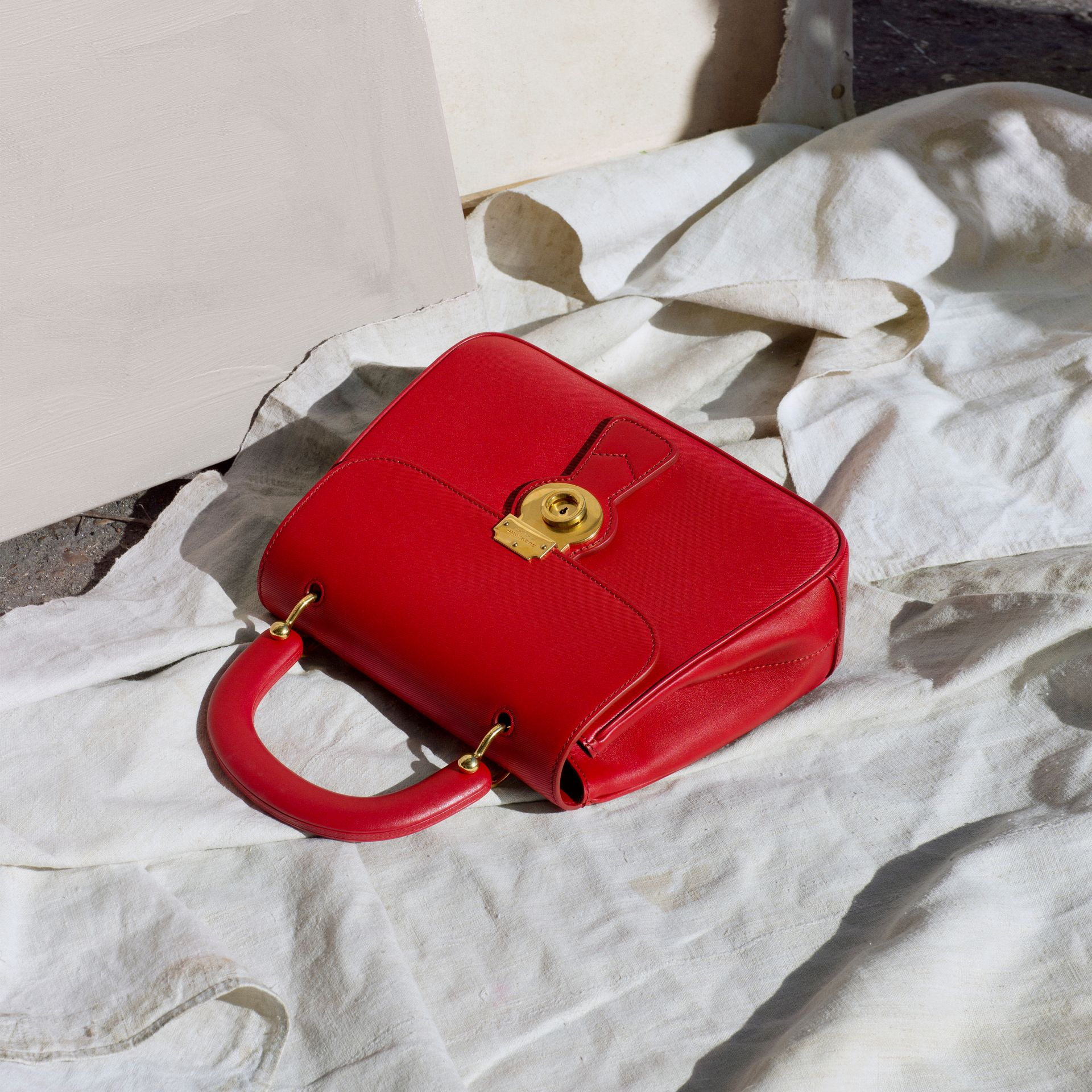 The Medium DK88 Top Handle Bag in Coral Red - Women | Burberry United Kingdom - gallery image 7
