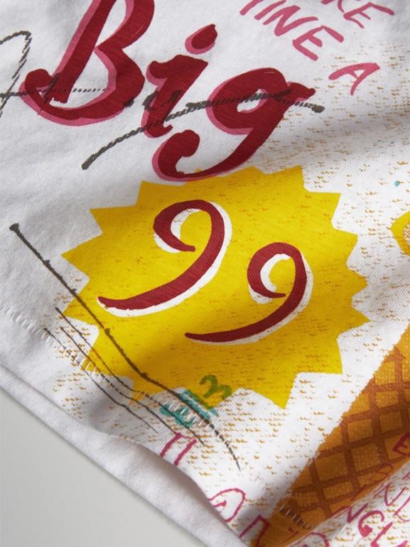 Camiseta de tirantes en tejido jersey de algodón con estampado de helado (Blanco) - Niña | Burberry - cell image 1