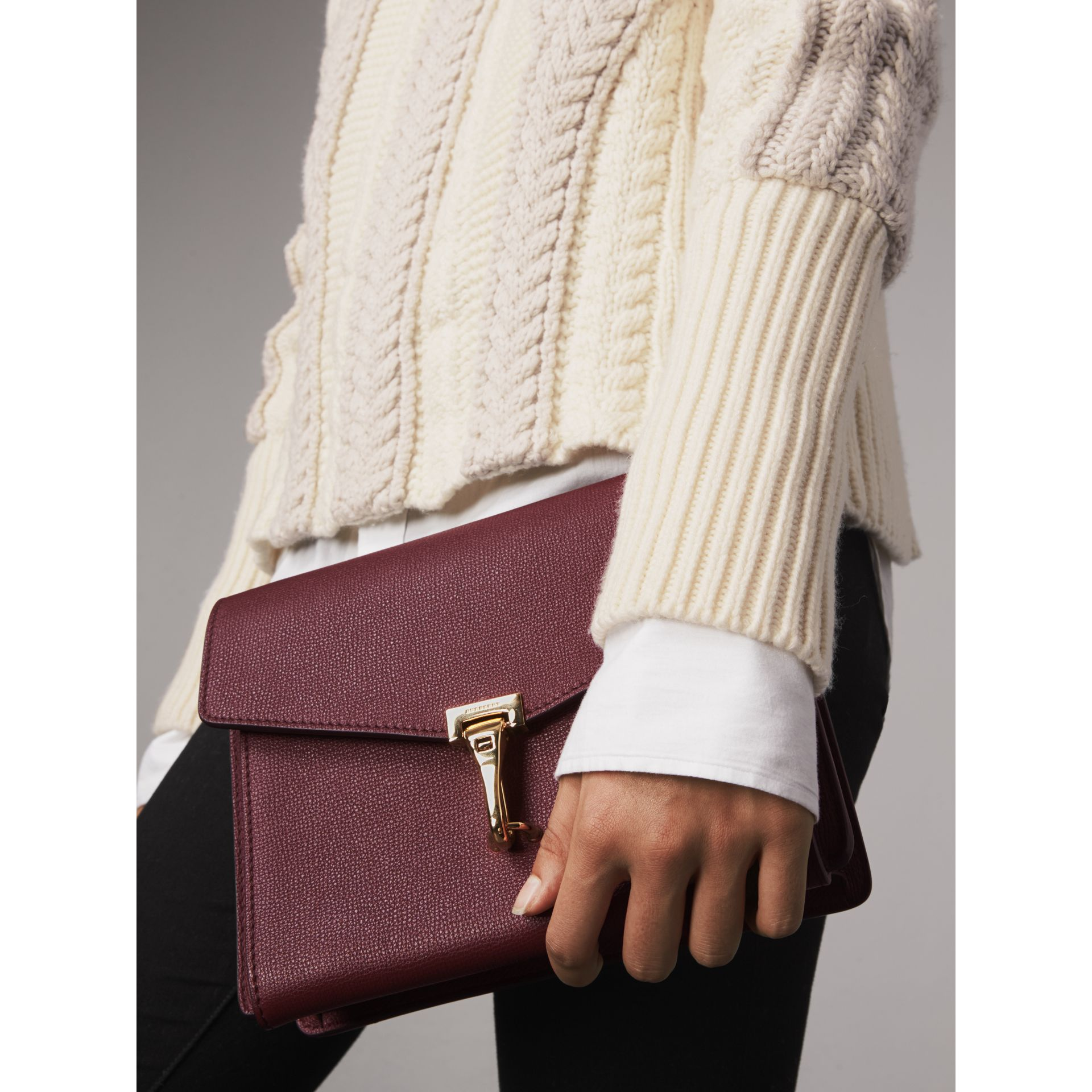Small Leather Crossbody Bag in Mahogany Red - Women | Burberry Singapore - gallery image 3