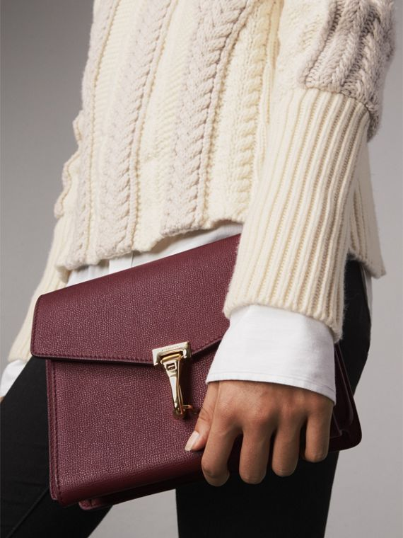 Small Leather Crossbody Bag in Mahogany Red - Women | Burberry - cell image 3