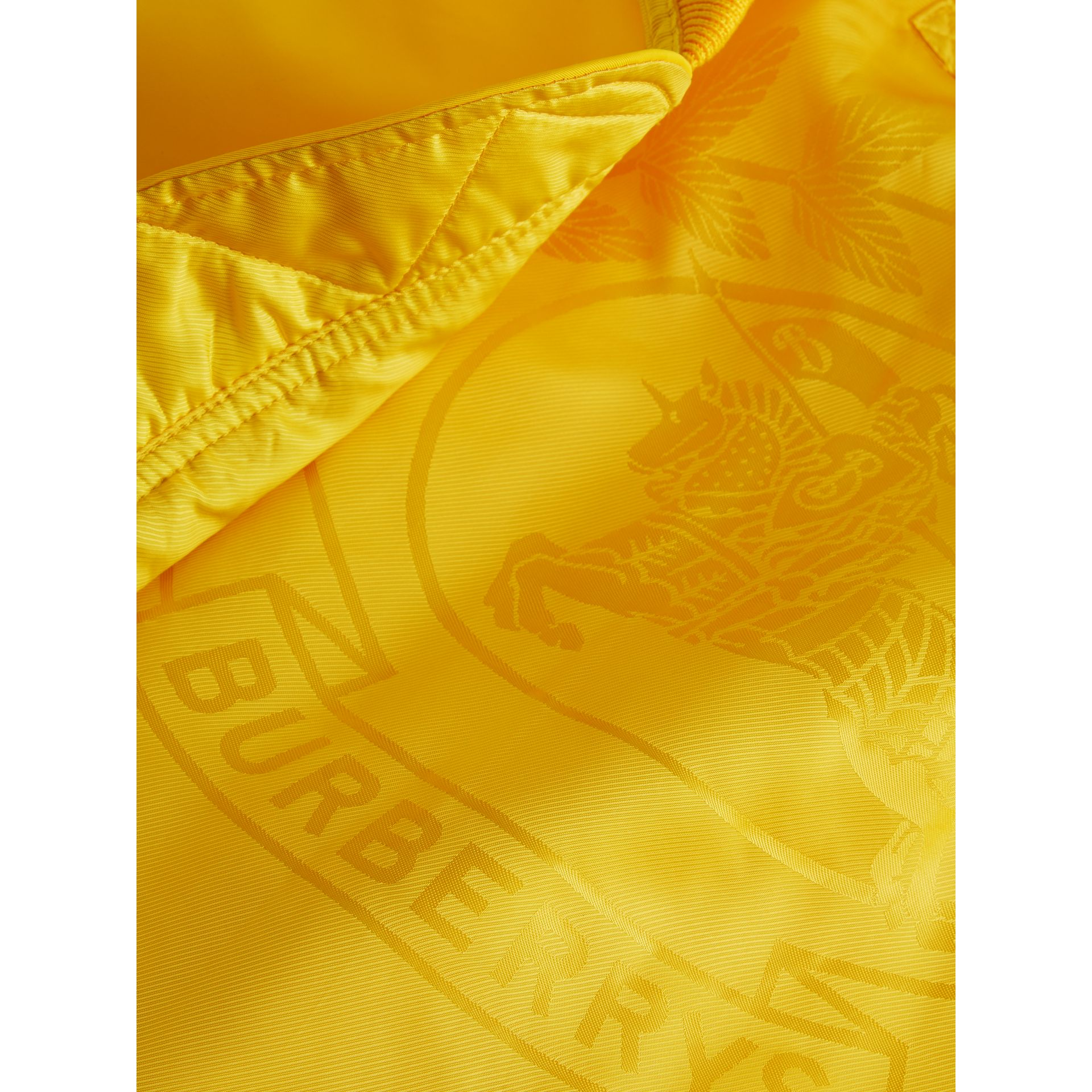 Nylon Bomber Jacket in Bright Yellow - Men | Burberry United States - gallery image 1
