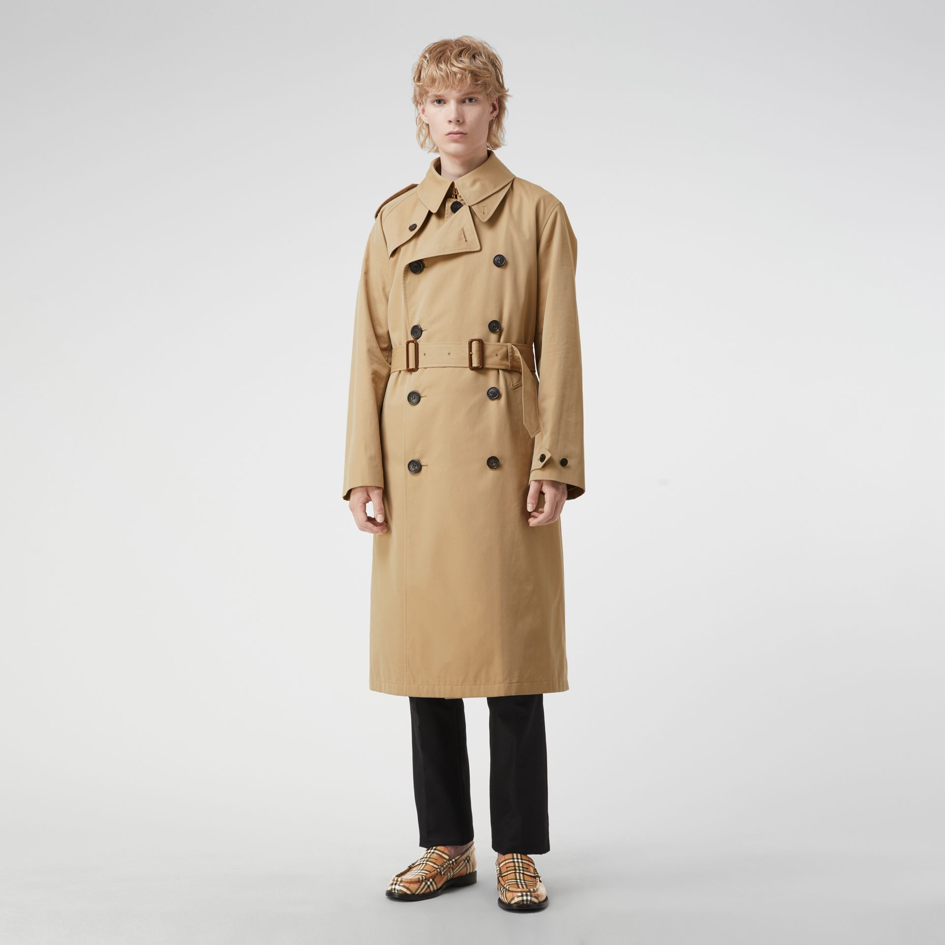 Gosha x Burberry Reconstructed Trench Coat in Honey | Burberry - gallery image 6