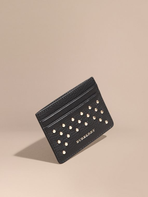 Studded Leather Card Case