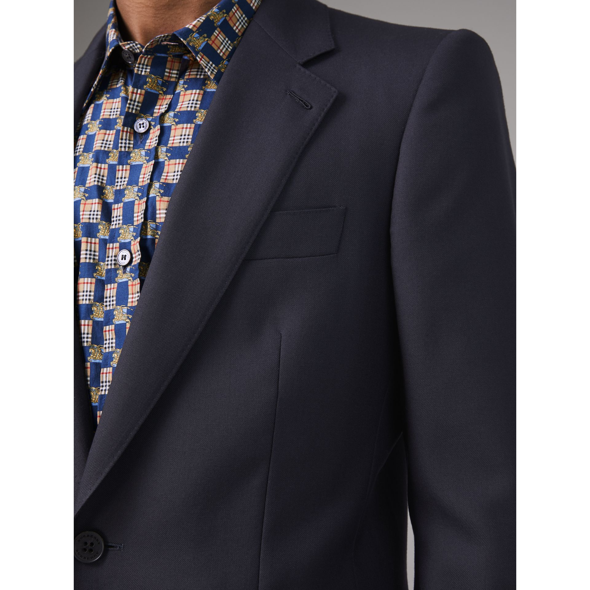 Slim Fit Wool Twill Suit in Navy - Men | Burberry Australia - gallery image 1