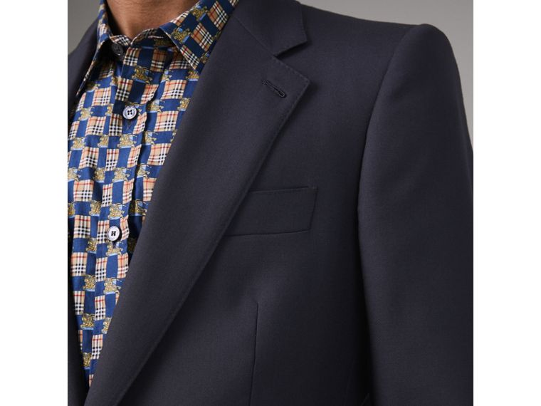 Slim Fit Wool Twill Suit in Navy - Men | Burberry United Kingdom - cell image 1