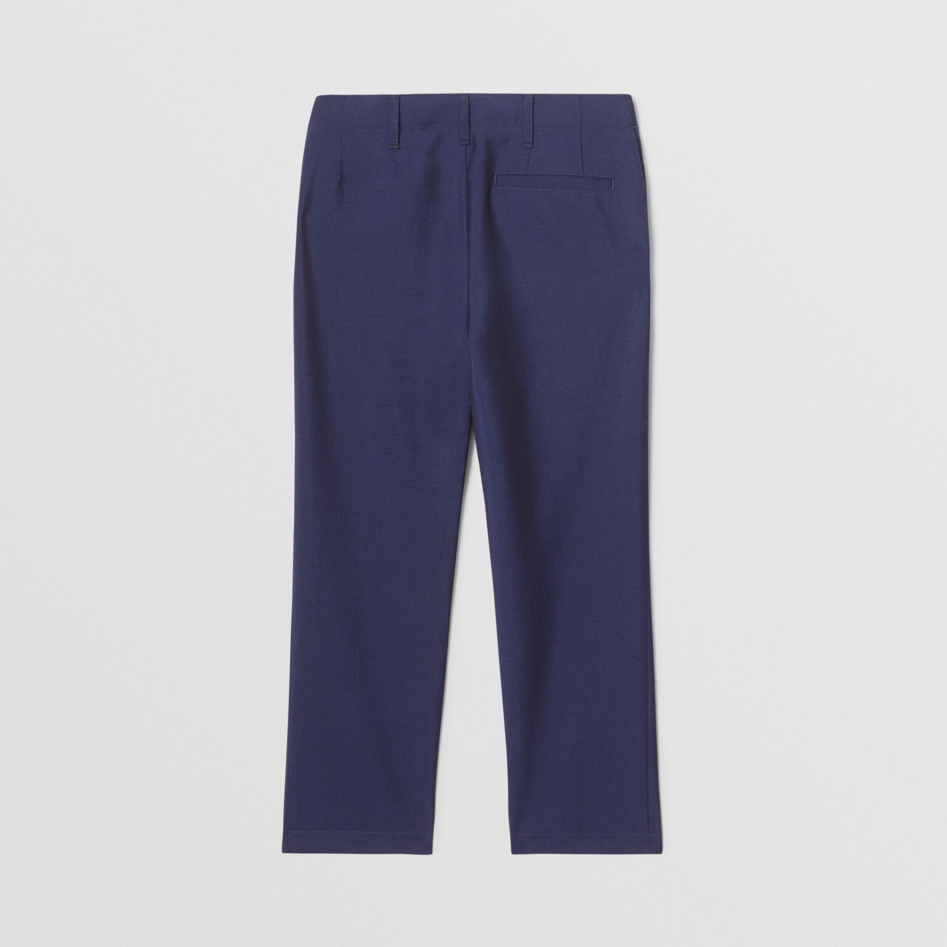 Wool Mohair Tailored Trousers in Navy | Burberry Hong Kong S.A.R - gallery image 2