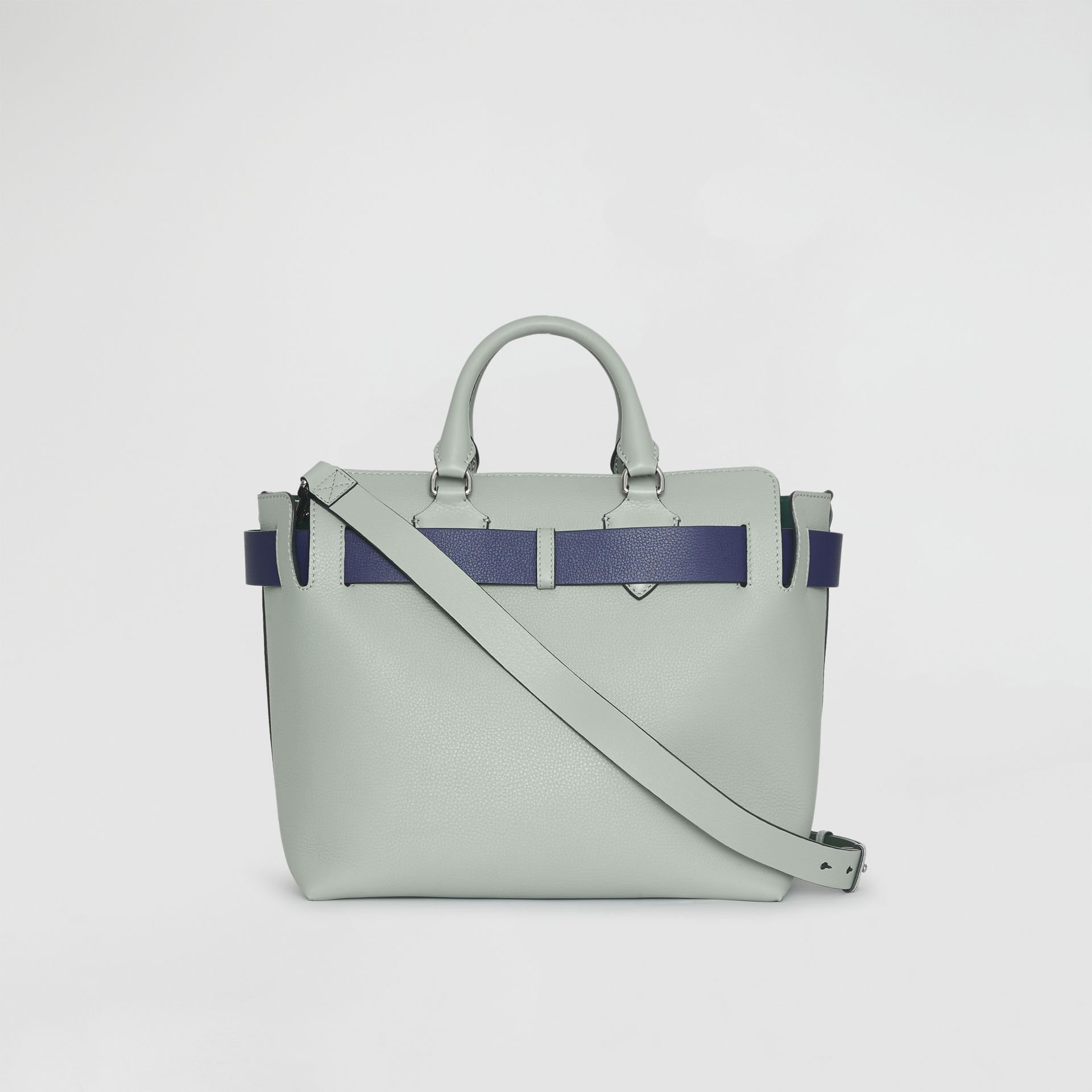 The Medium Leather Belt Bag in Grey Blue - Women | Burberry - gallery image 7
