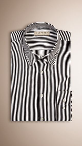 Modern Fit Striped Stretch-cotton Shirt