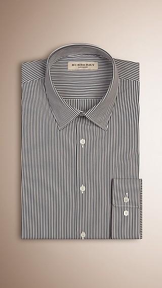 Modern Fit Striped Stretch-cotton Shirt