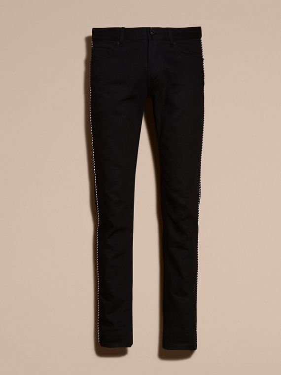 Skinny Fit Regimental Jeans - cell image 3