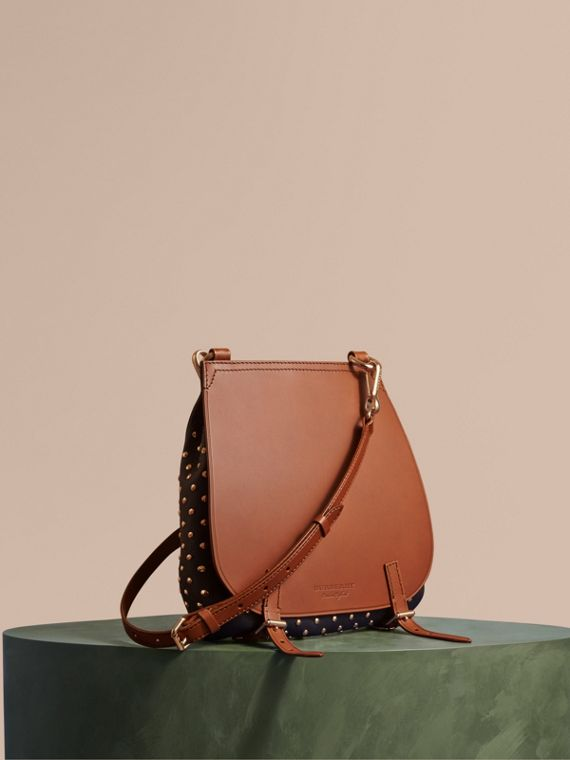 The Small Bridle Bag in Riveted Leather