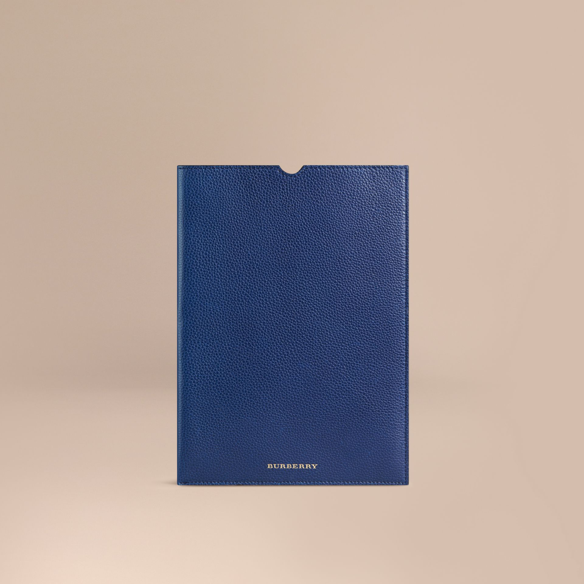 Marine vif Étui pour iPad en cuir grainé Marine Vif - photo de la galerie 1