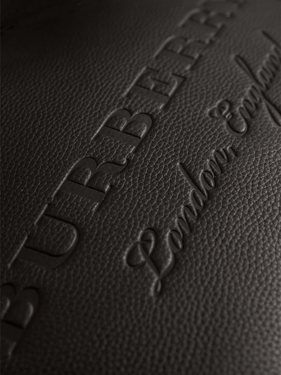 Embossed Leather Tote in Black | Burberry United Kingdom - cell image 1