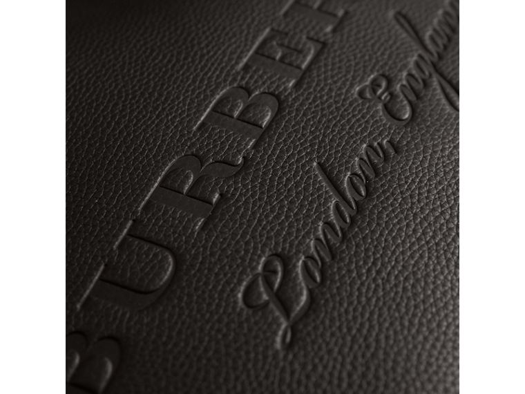 Large Embossed Leather Tote in Black | Burberry - cell image 1