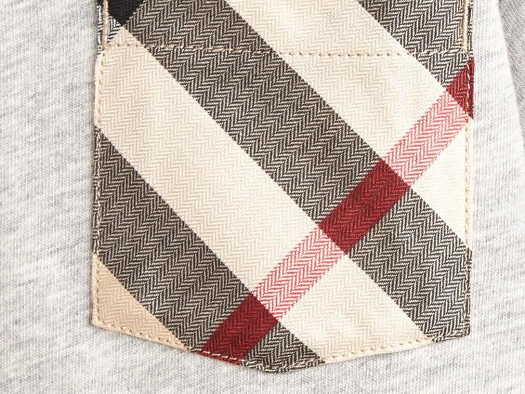 Grey melange Check Pocket T-Shirt - cell image 1