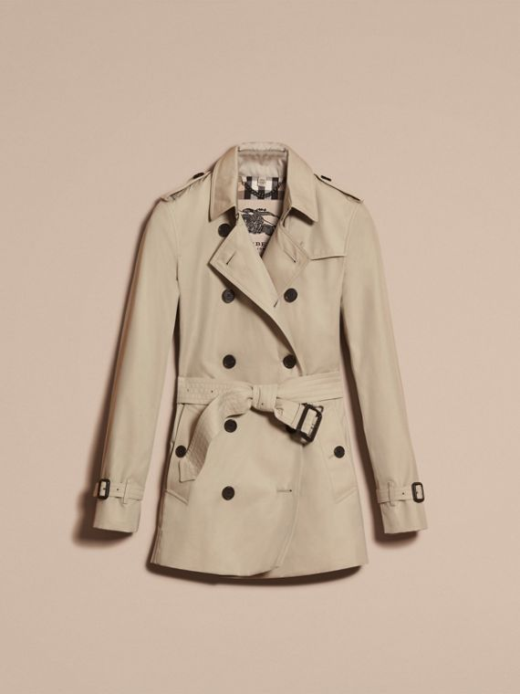 Stone The Kensington – Short Heritage Trench Coat Stone - cell image 3