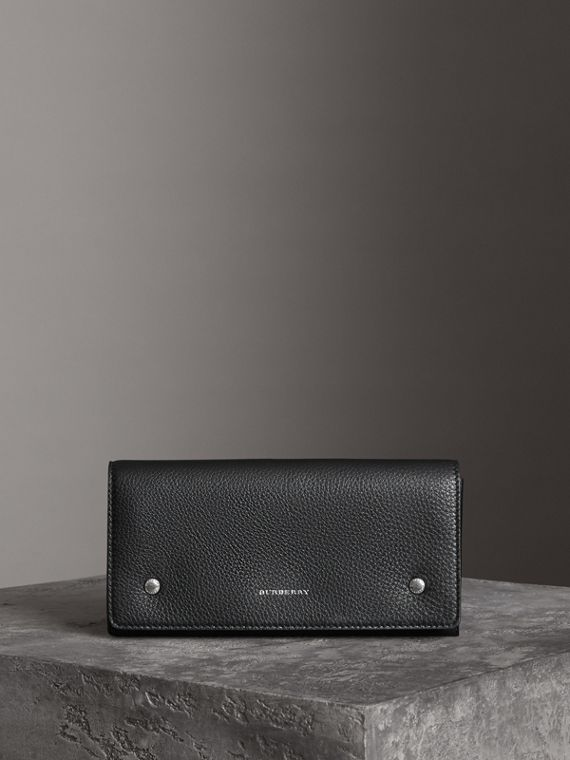 Классический бумажник из двухцветной кожи (Черный)