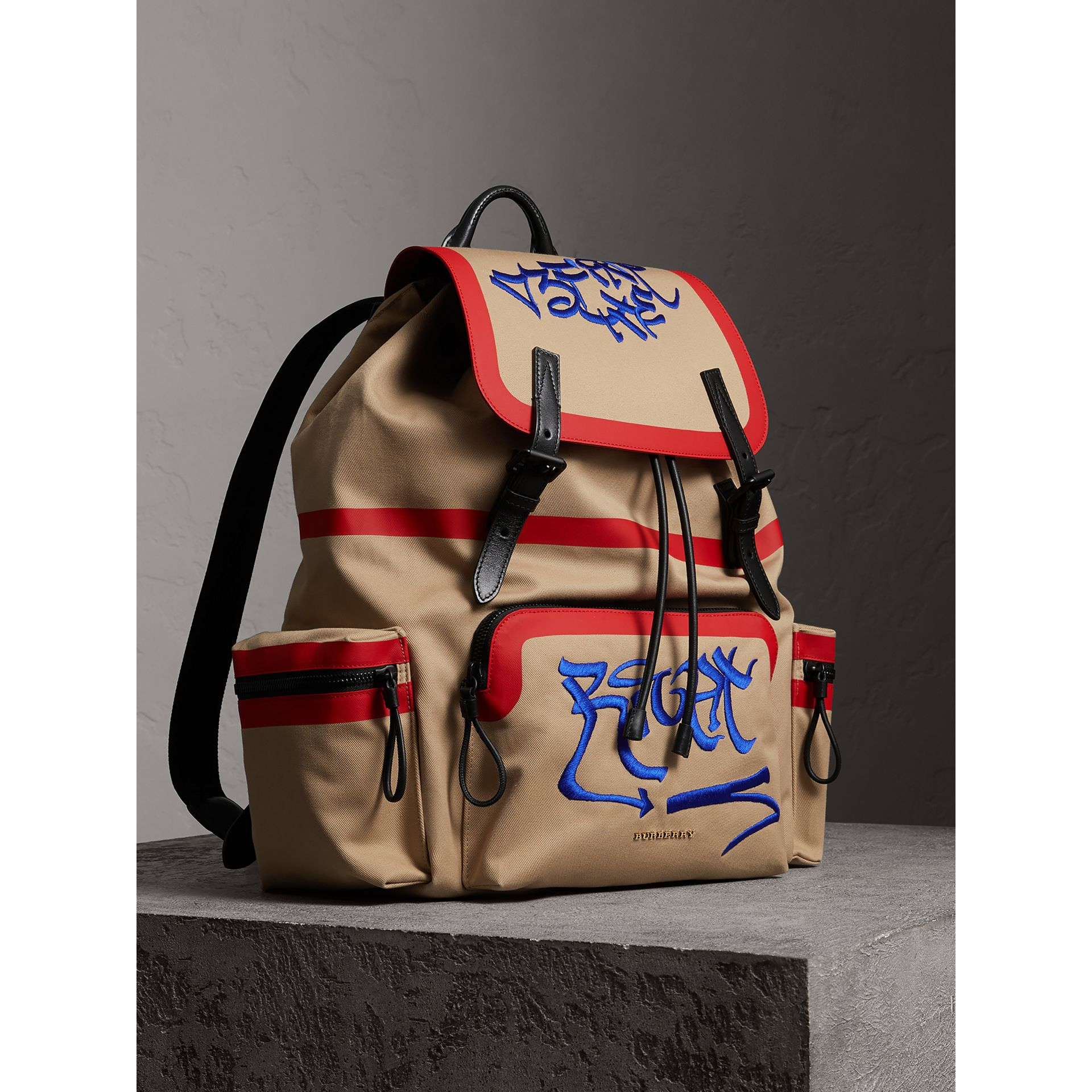 Burberry x Kris Wu The Extra Large Rucksack in Honey - Men | Burberry United States - gallery image 0