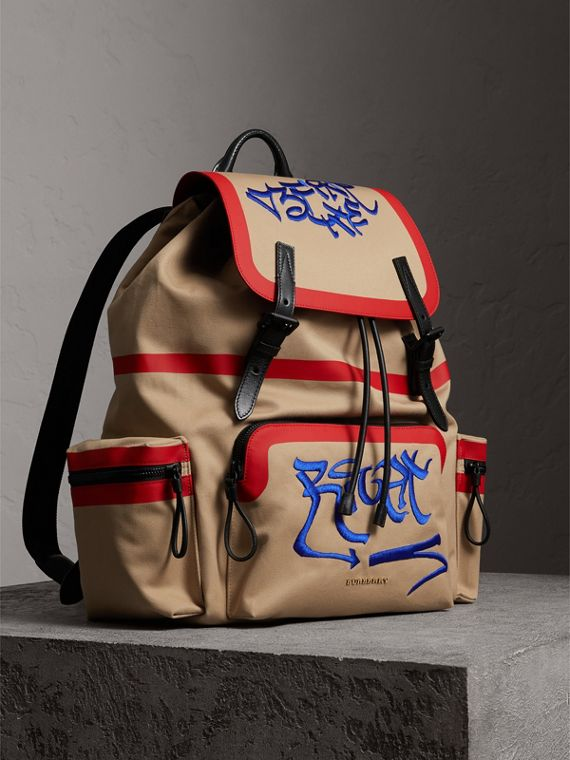 Burberry x Kris Wu The Extra Large Rucksack in Honey