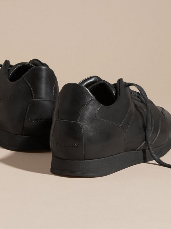 Nero Sneaker Field in pelle Nero - cell image 3