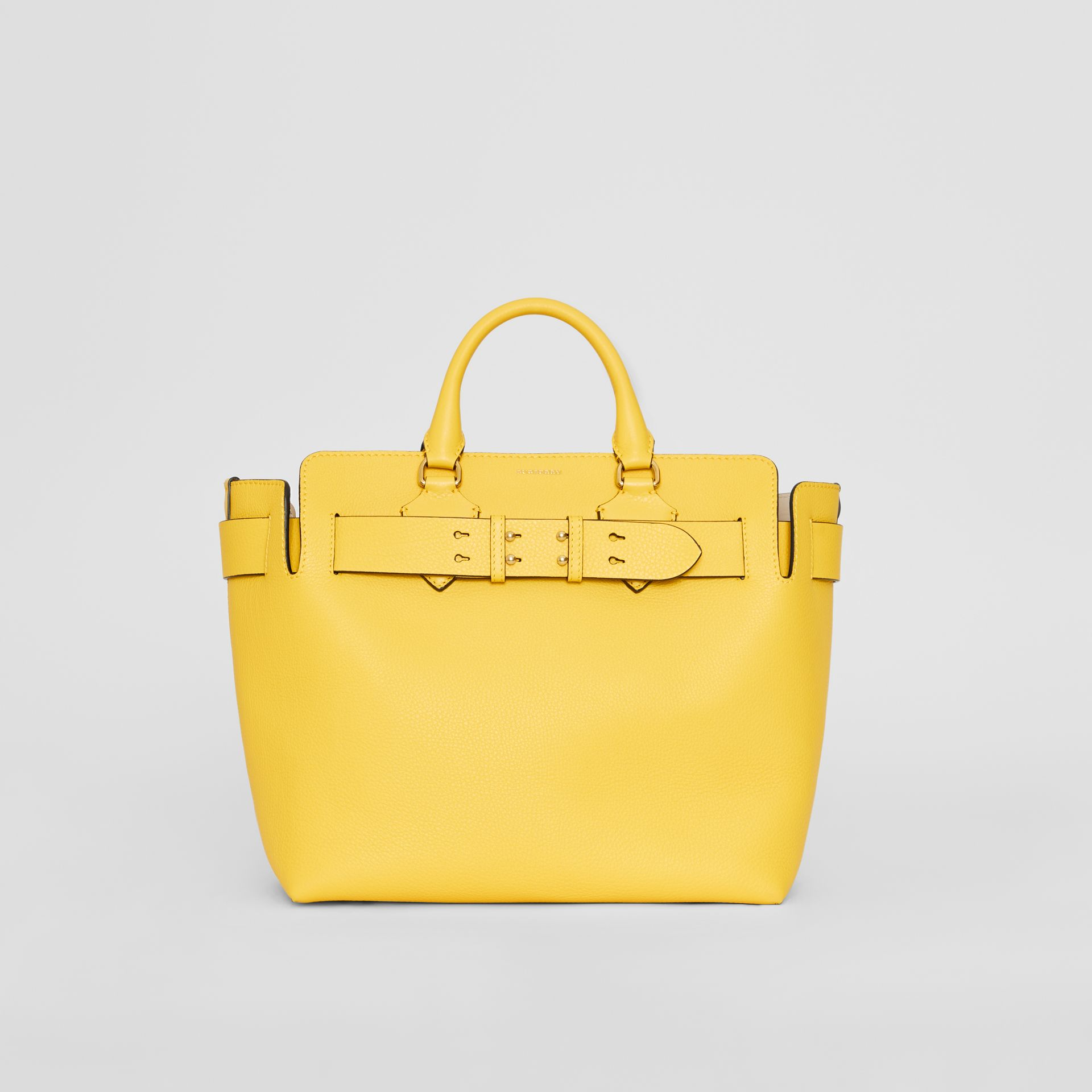 The Medium Leather Belt Bag in Bright Larch Yellow - Women | Burberry United Kingdom - gallery image 0
