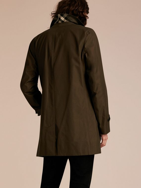 Dark khaki green Cotton Gabardine Car Coat Dark Khaki Green - cell image 2