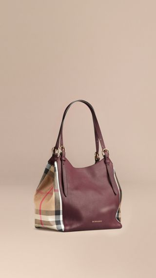 The Small Canter in Leather and House Check