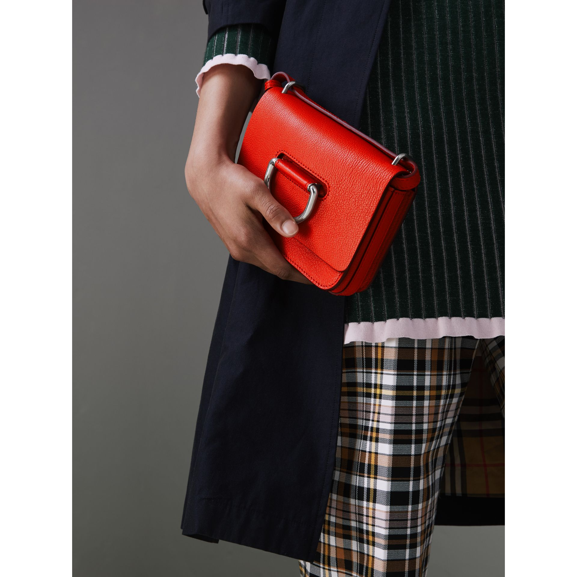 The Mini Leather D-ring Bag in Bright Red - Women | Burberry - gallery image 3