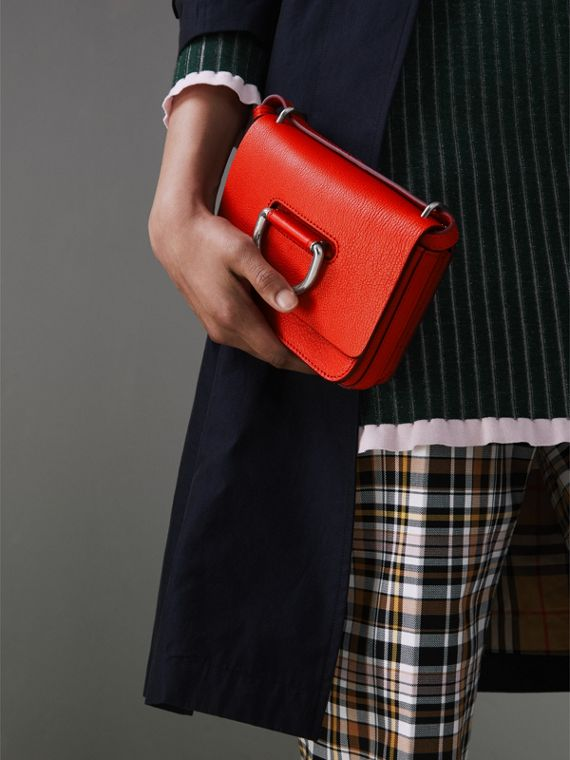 The Mini Leather D-Ring Bag in Bright Red - Women | Burberry - cell image 3