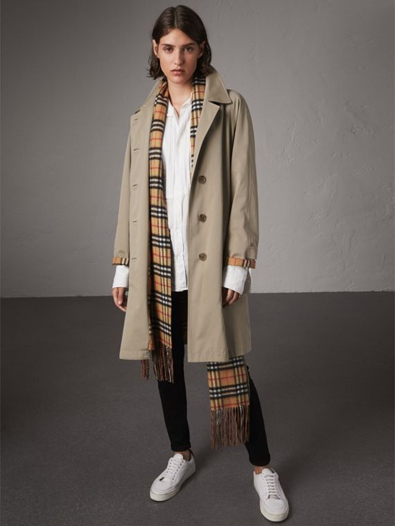 The Camden – Long Car Coat in Sandstone - Women | Burberry