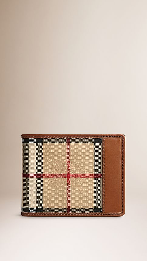 Tan Horseferry Check Wallet - Image 1