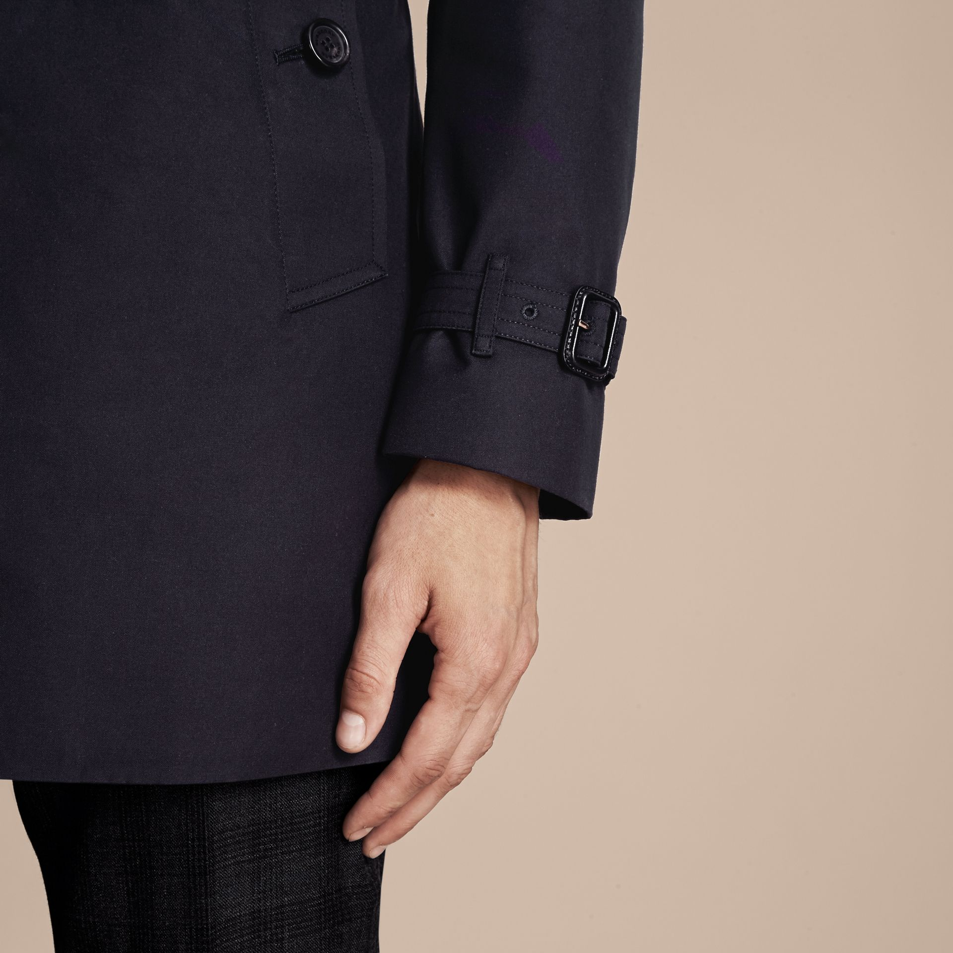 Navy The Chelsea – Short Heritage Trench Coat Navy - gallery image 7