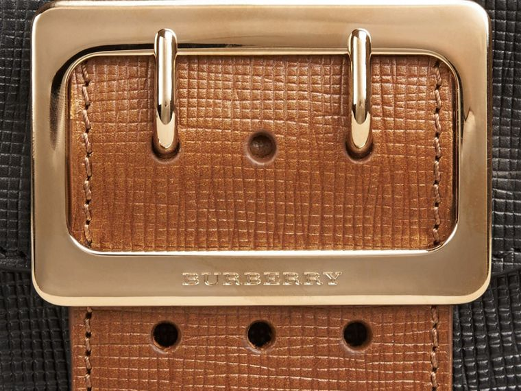 Nero Borsa The Buckle quadrata piccola in pelle e motivo House check Nero - cell image 1
