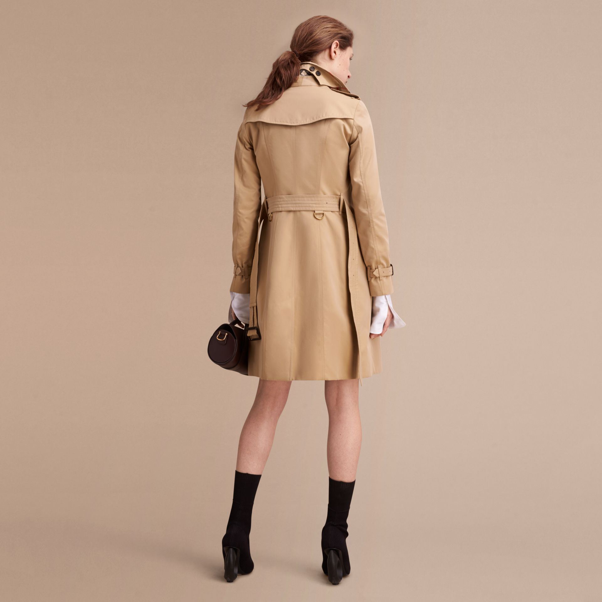 Honey The Sandringham – Long Heritage Trench Coat Honey - gallery image 4