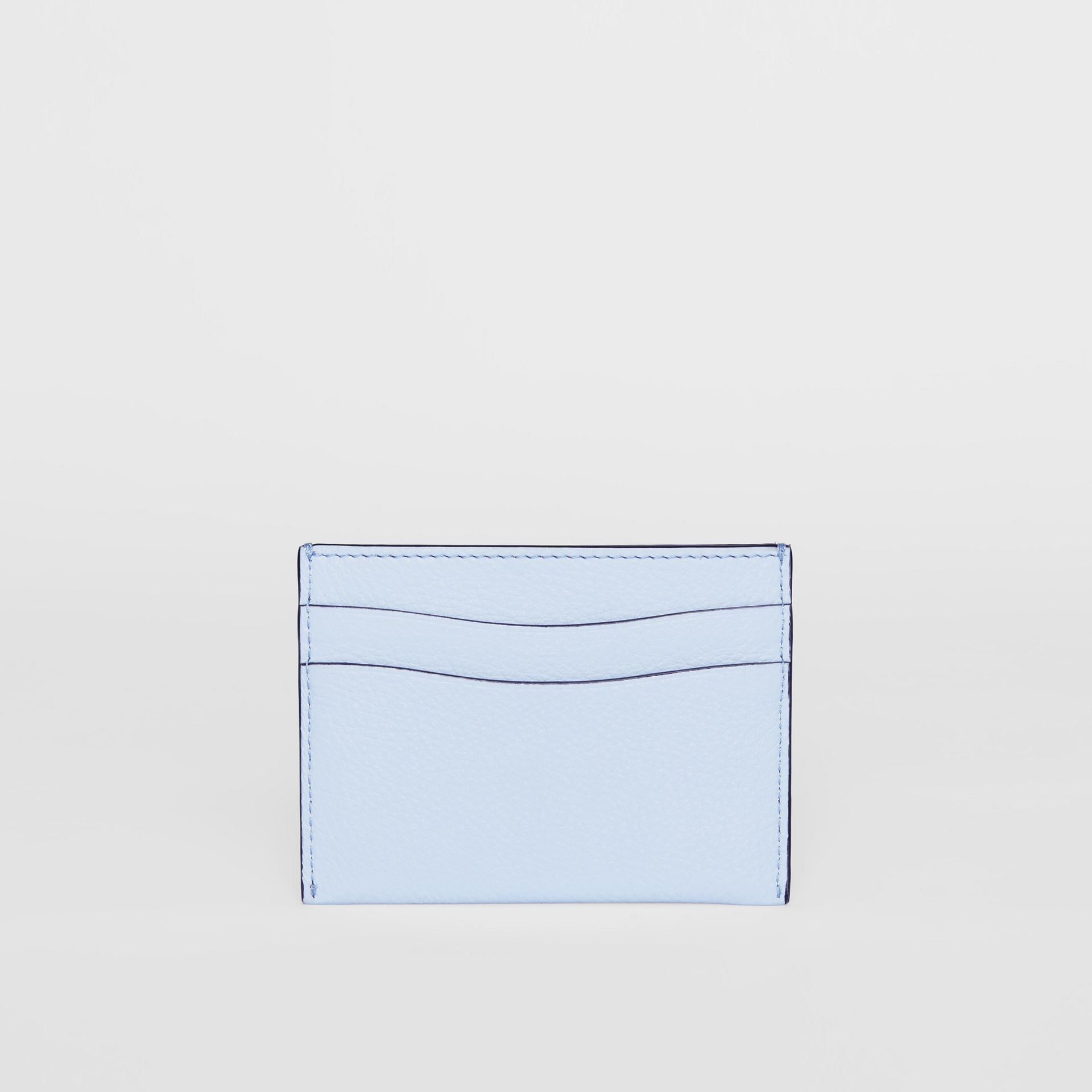Grainy Leather Card Case in Pale Blue - Women | Burberry - gallery image 4