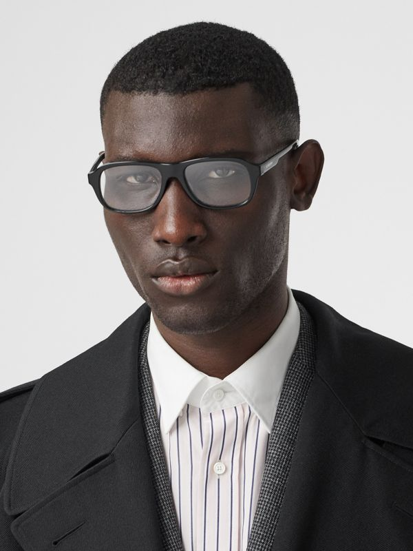 Rectangular Optical Frames in Black - Men | Burberry - cell image 2