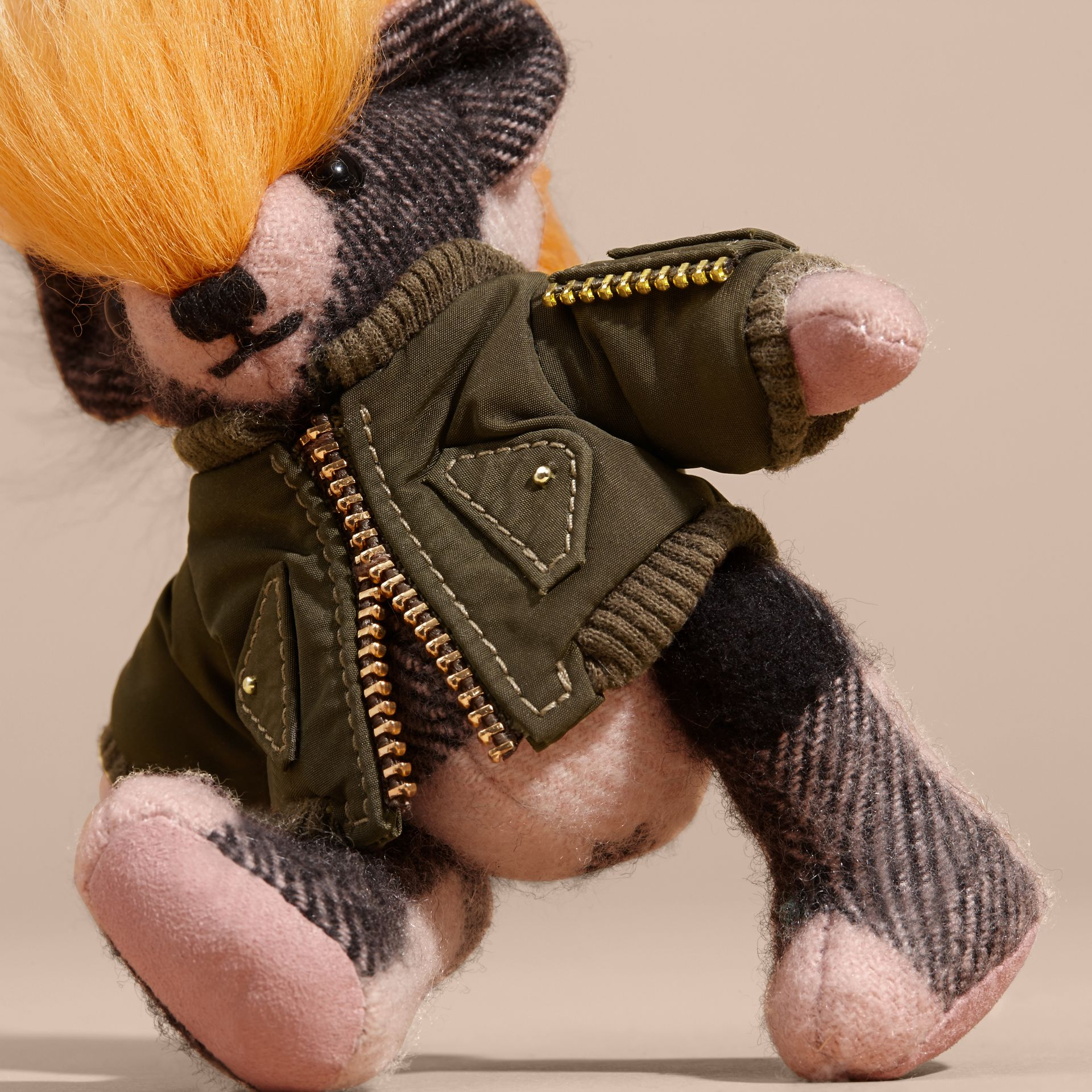 Thomas Bear Charm with Shearling and Pallas Heads Appliqué Bomber in Ash Rose - Women | Burberry Australia - gallery image 2