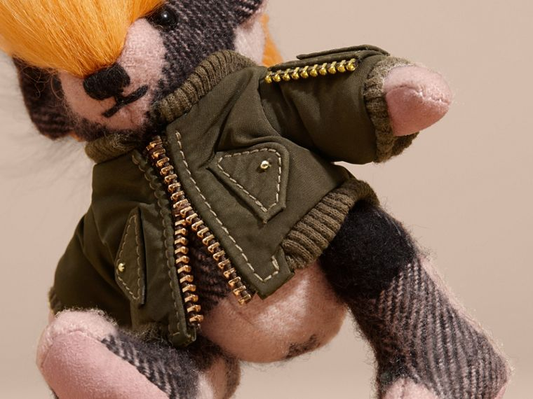 Thomas Bear Charm with Shearling and Pallas Heads Appliqué Bomber in Ash Rose - Women | Burberry - cell image 1