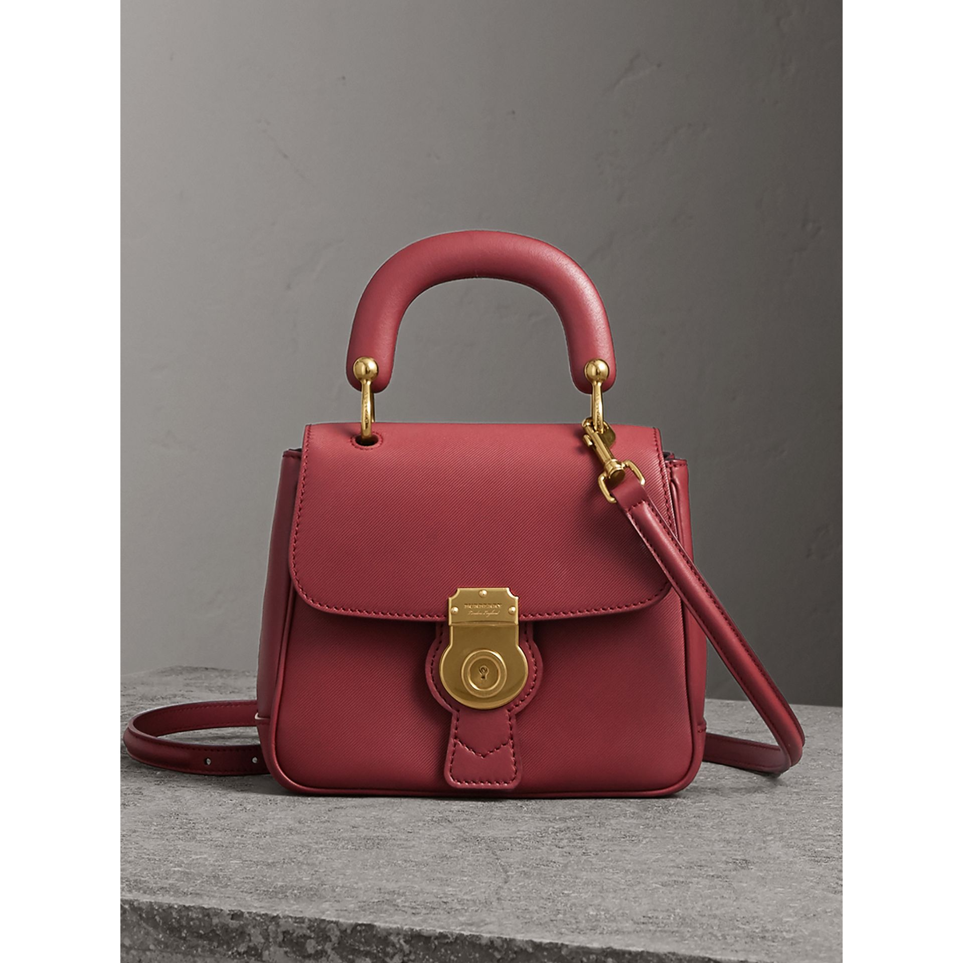 The Small DK88 Top Handle Bag in Antique Red - Women | Burberry - gallery image 0