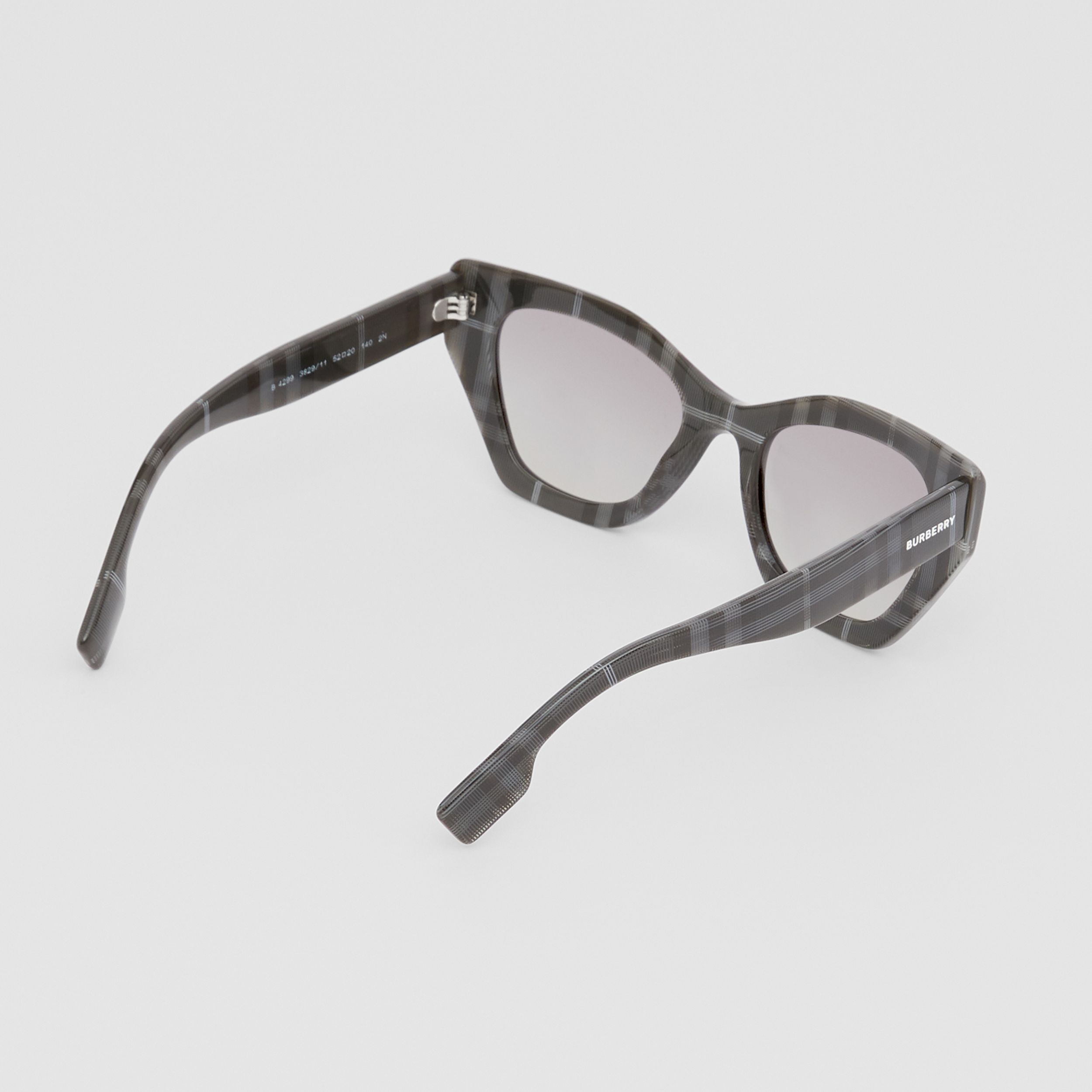 Butterfly Frame Sunglasses in Transparent Dark Grey - Women | Burberry United Kingdom - 4