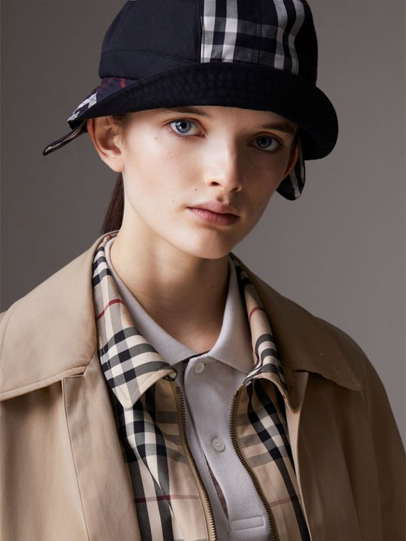 Gosha x Burberry Bucket Hat in Navy | Burberry Hong Kong - cell image 3