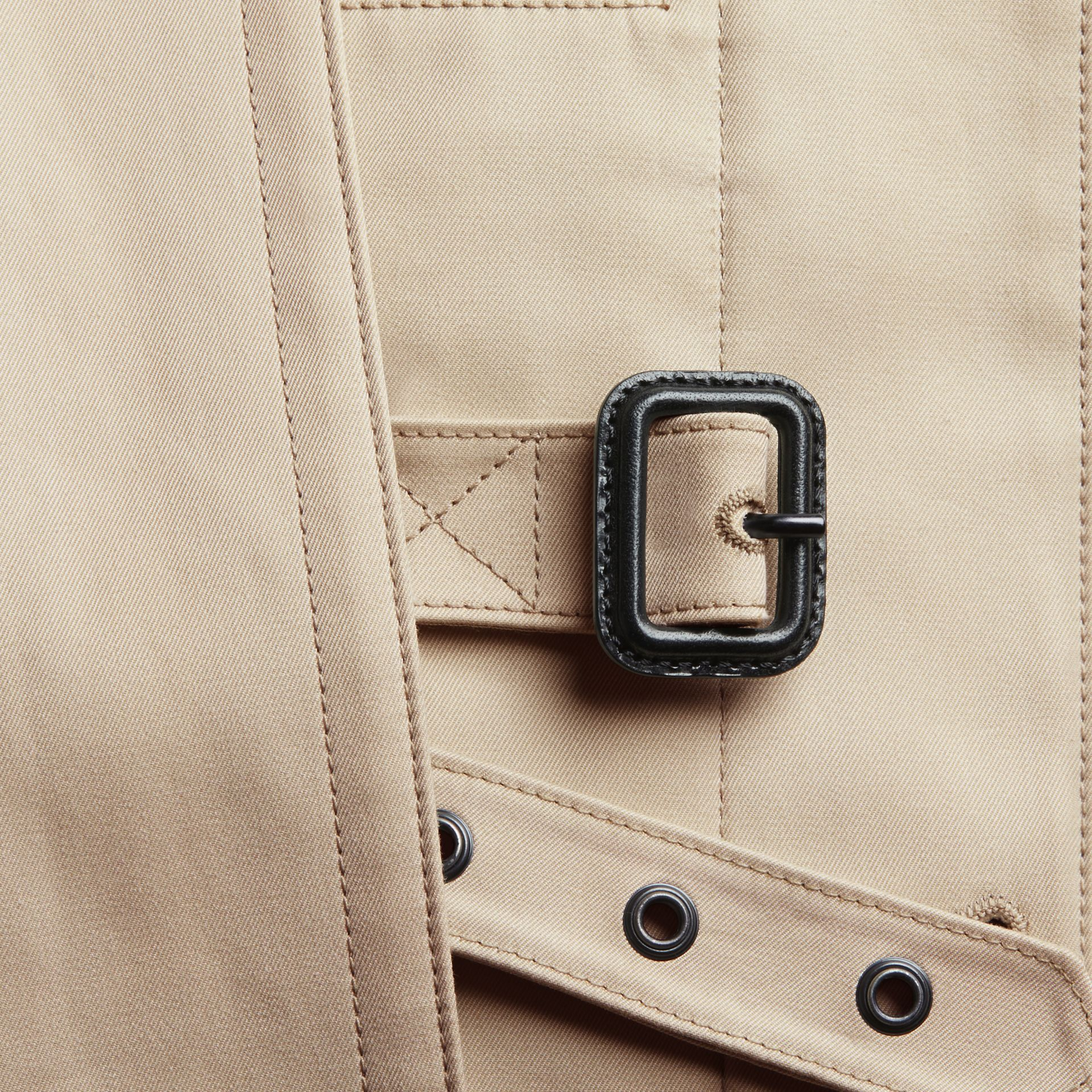 Showerproof Cotton Gabardine Car Coat in Stone - Men | Burberry - gallery image 2