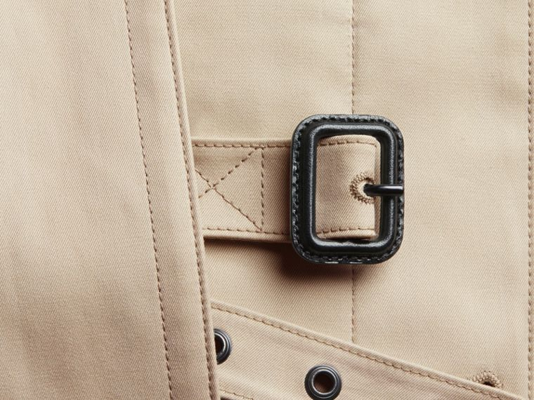 Showerproof Cotton Gabardine Car Coat in Stone - Men | Burberry - cell image 1