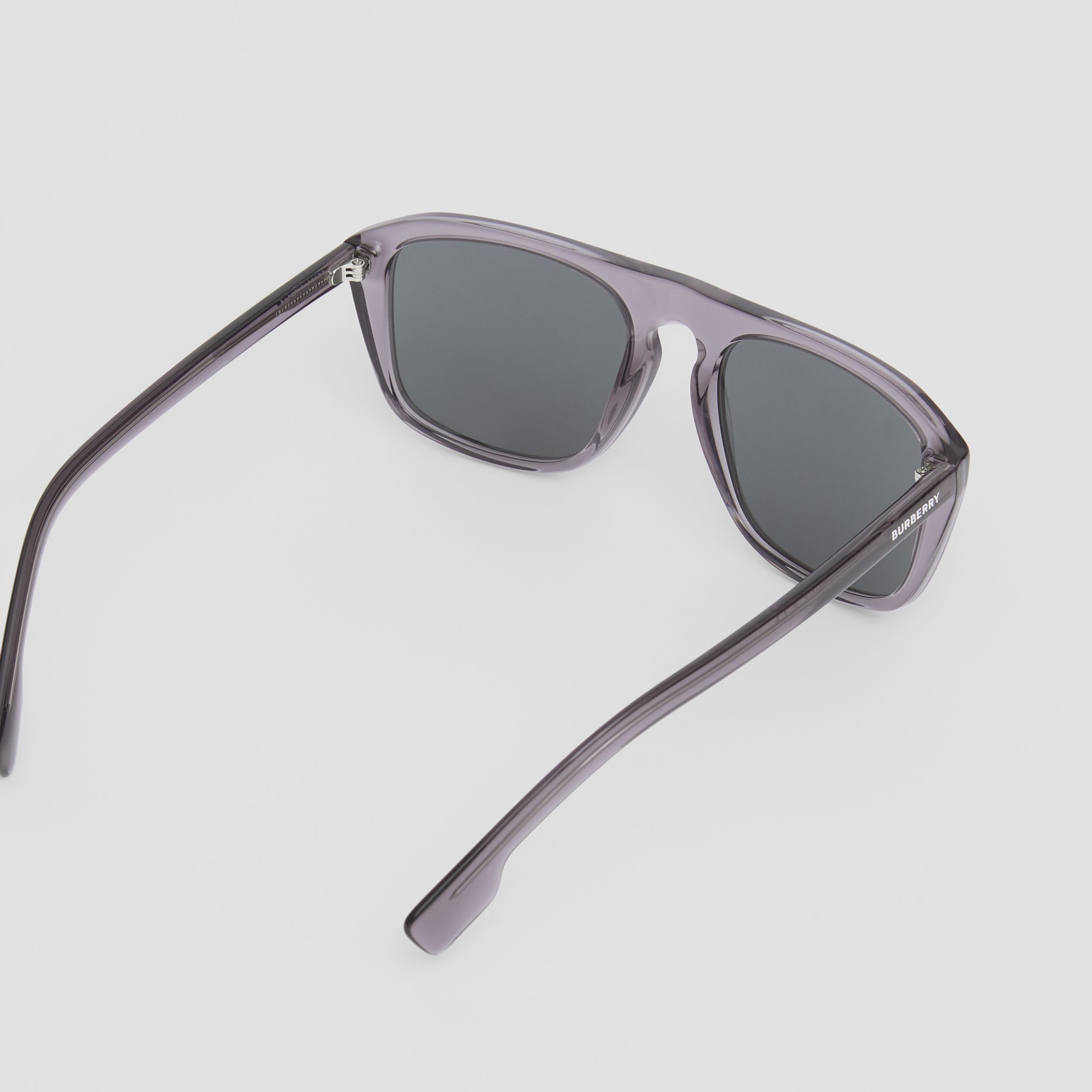 Navigator Sunglasses in Grey - Men | Burberry - 4