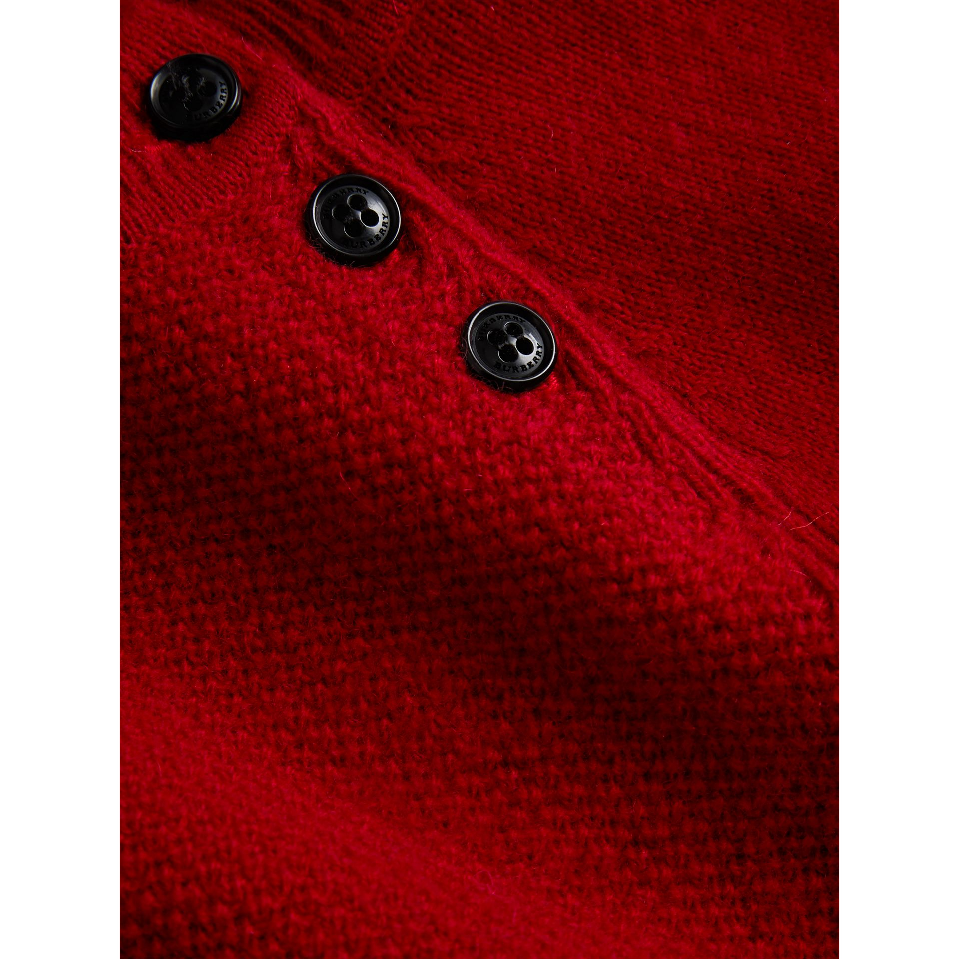 Cashmere Sweater Dress in Parade Red | Burberry - gallery image 1