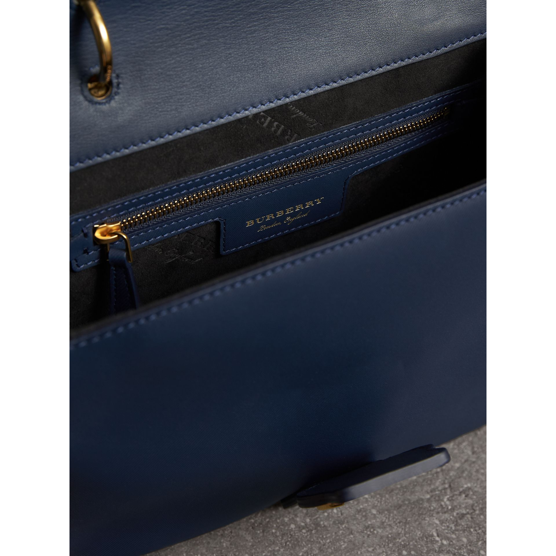 The Medium DK88 Top Handle Bag in Ink Blue - Women | Burberry United Kingdom - gallery image 4