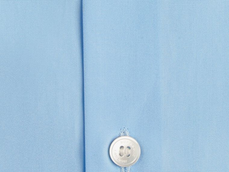 City blue Modern Fit Button-down Collar Cotton Poplin Shirt City Blue - cell image 1