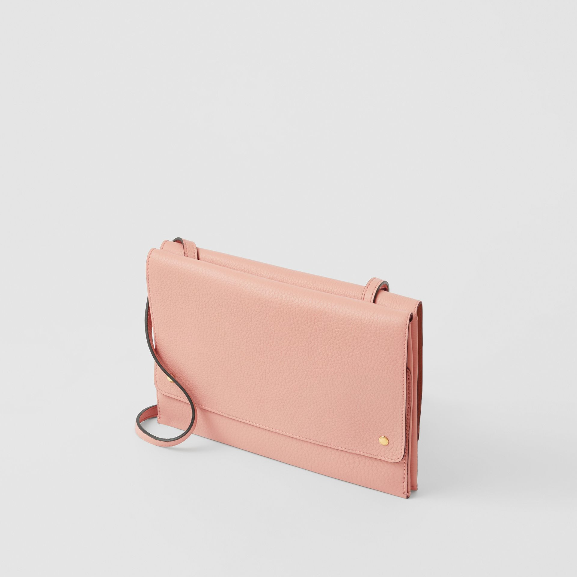 Leather Envelope Crossbody Bag in Ash Rose - Women | Burberry - gallery image 4